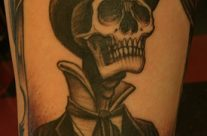 Skull Top Hat by Steve Fuller